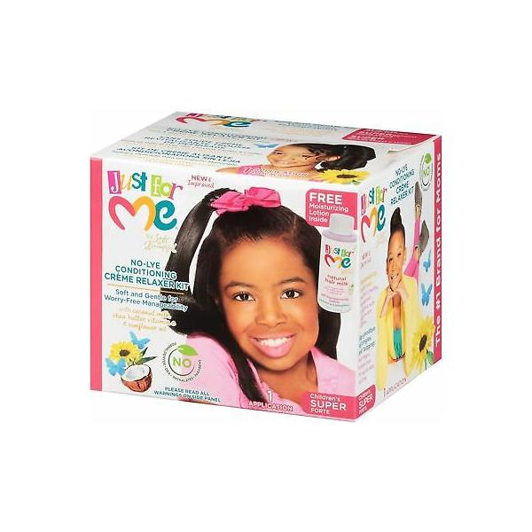 Just For Me No-Lye Conditioning Crème Relaxer Kit Super
