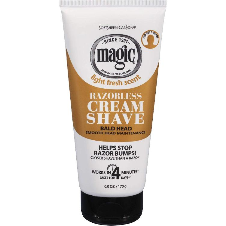 SoftSheen-Carson Magic Razorless Cream Shave Bald Head 170 g